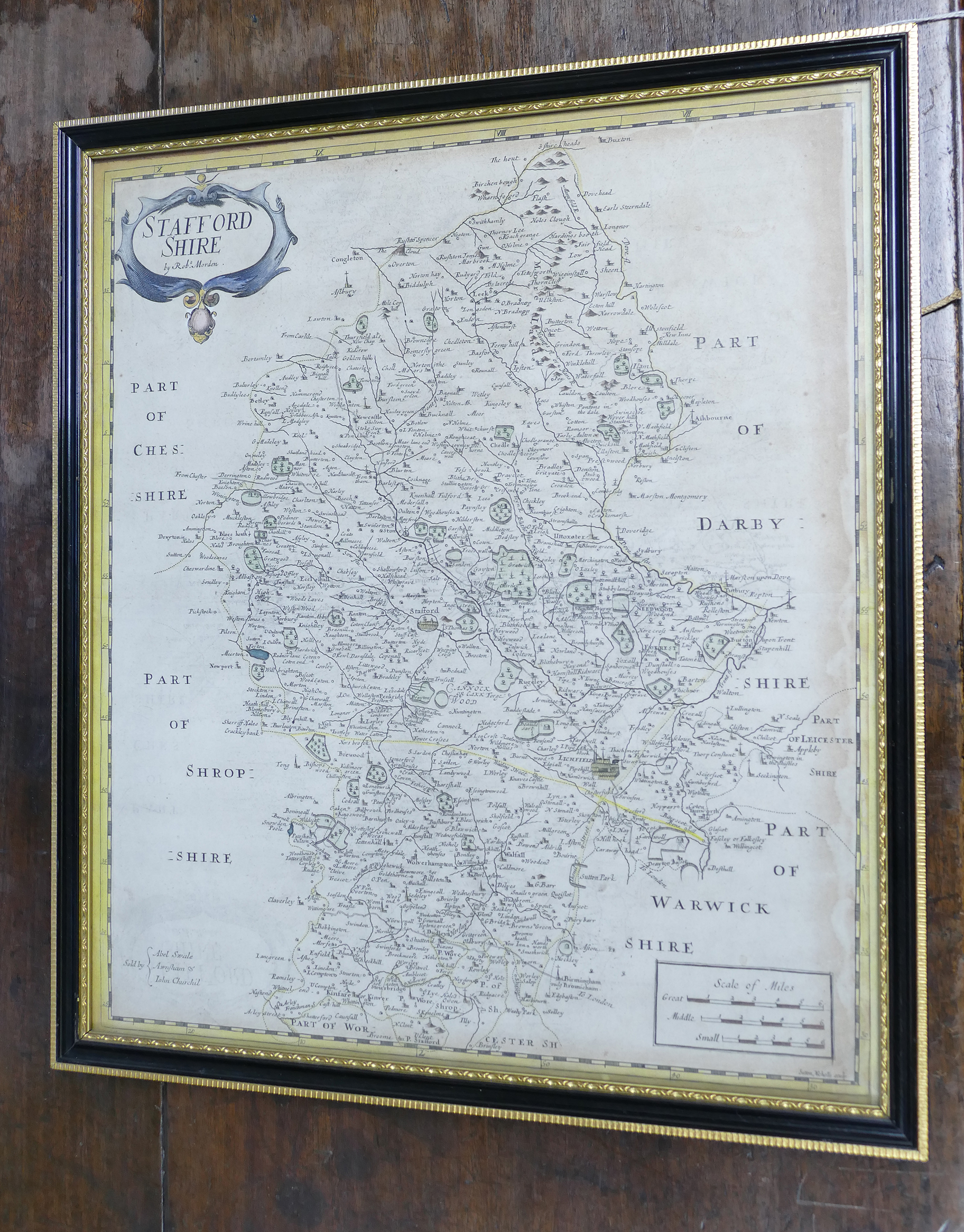 Lot 427 - A early map of Staffordshire by Robt. Mo
