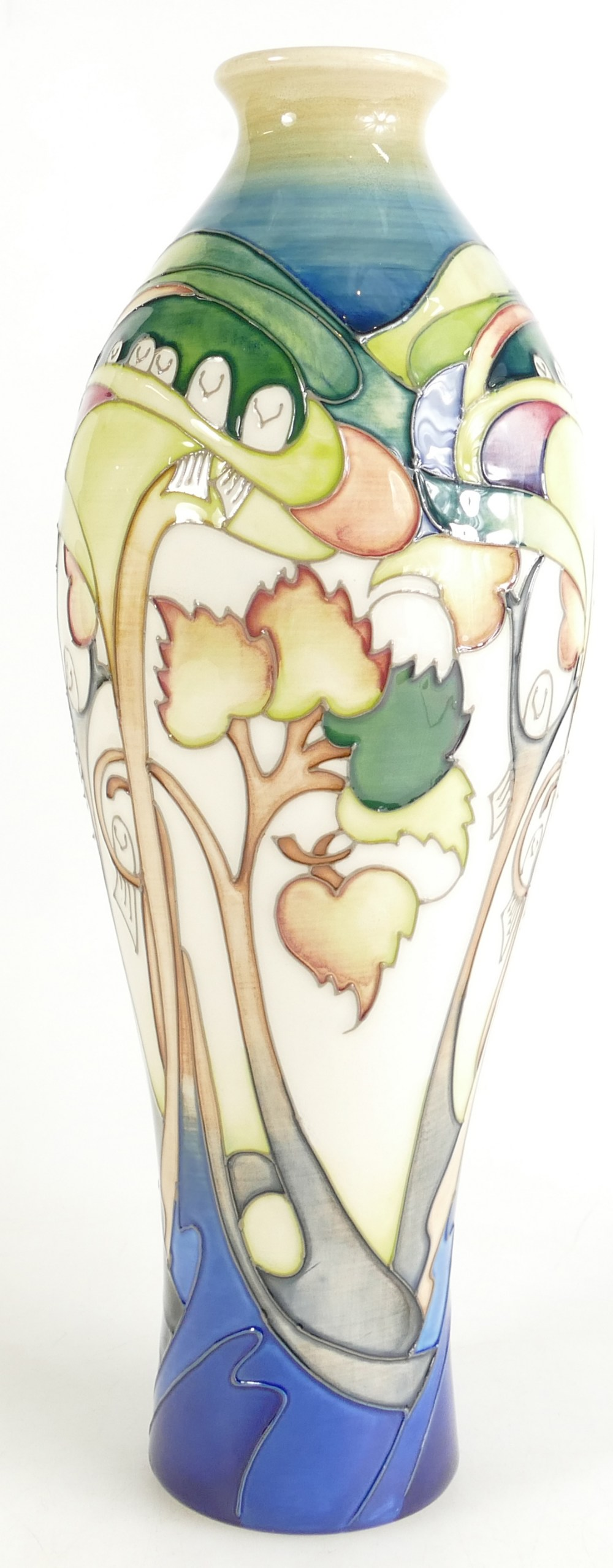 Lot 526 - Moorcroft vase Prom Tree Doves. Shape 42