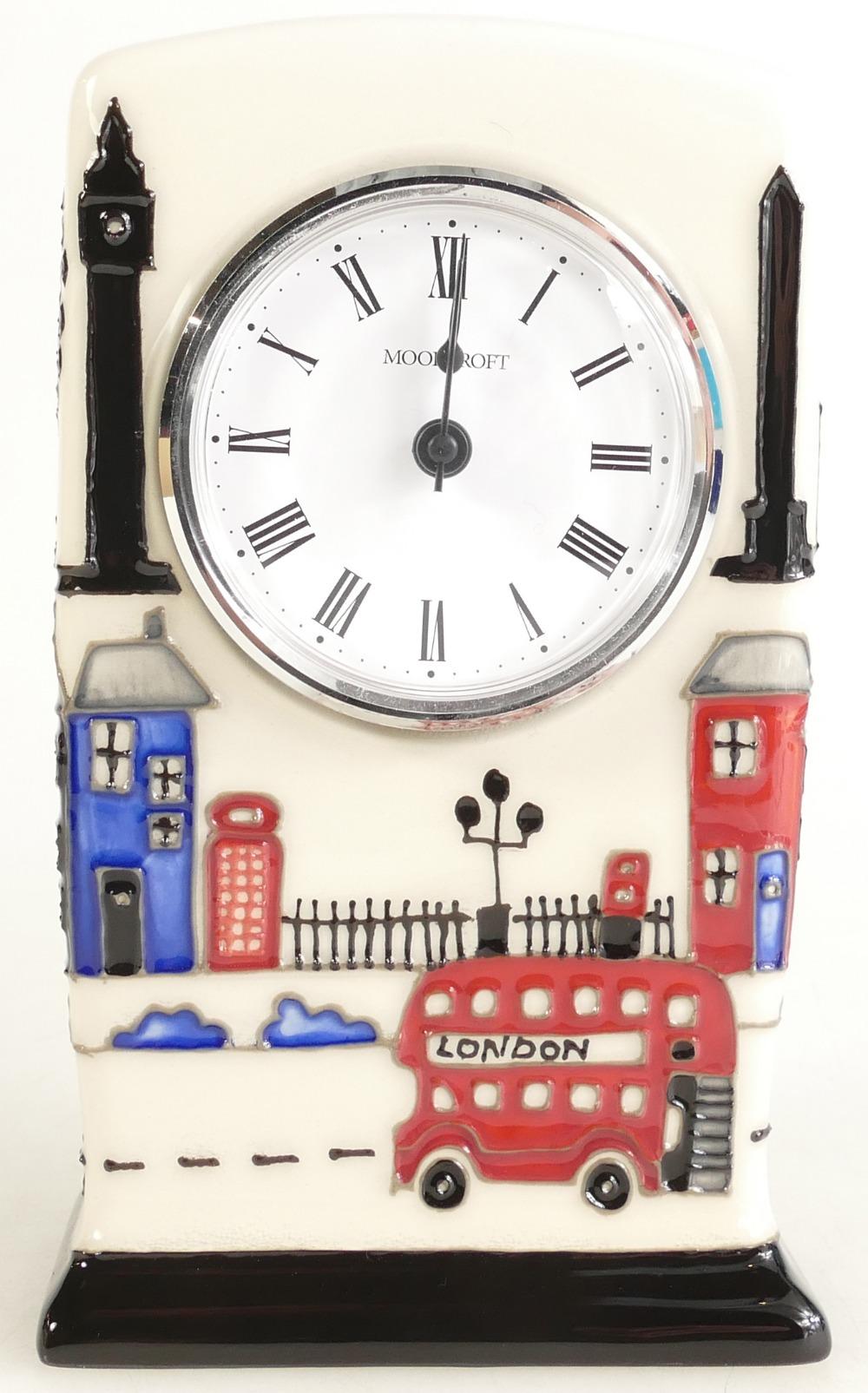 Lot 530 - Moorcroft Londinium clock. Shape CL1.
