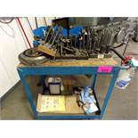 Cart with work holding clamps