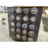 Wooden Track w/Used GRINDING WHEELS