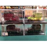 4x Oxford Diecast Models All On Display Boxes, Comprising Of; #MM032 Morris Campervan Certificate