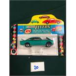 Lone Star Flyers Diecast Model #121 Fiat 2300S Coupe In Green With The Orange Interior On Bubble