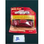 Lone Star MP Minicar Diecast #10 Jaguar Mark X In Red On Bubble Card