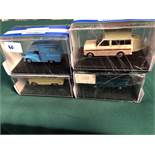 4x Oxford Diecast Models All On Display Boxes, Comprising Of; #HA004 Camper Certificate 0166 Of