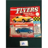 Lone Star Flyers Diecast Model #110 Jaguar Mark X In Blue With Red Interior On Bubble Card (Bubble