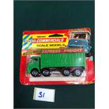 Lone Star Diecast Commercials Scale Models #29 Express Freight Truck On Bubble Card