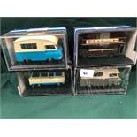 4x Oxford Diecast Models All On Display Boxes, Comprising Of; #RT025 RT Bus, #JM011 Bradford J2