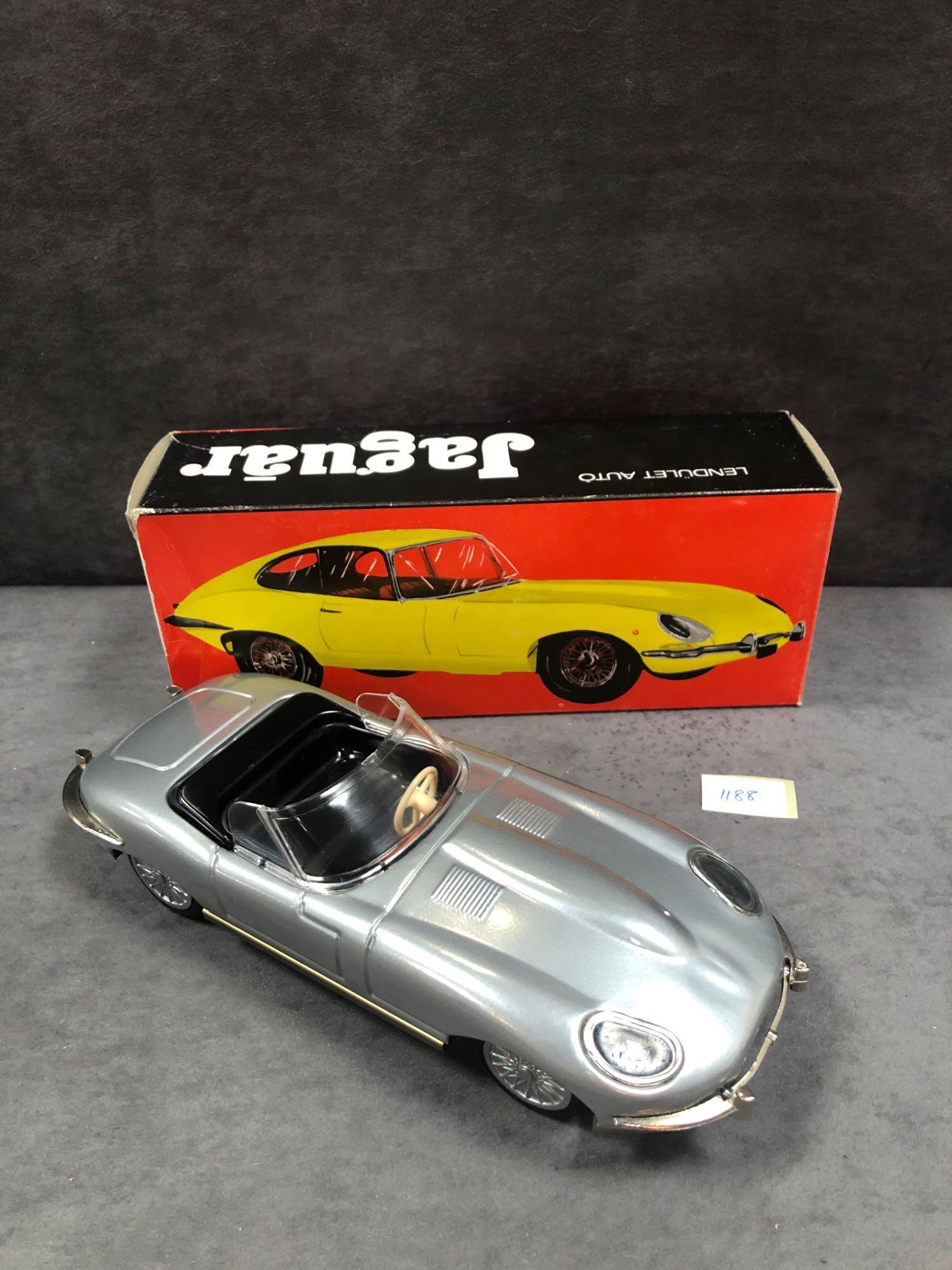 Lendulet Auto Push & Go Tinplate E Type Jaguar In Box