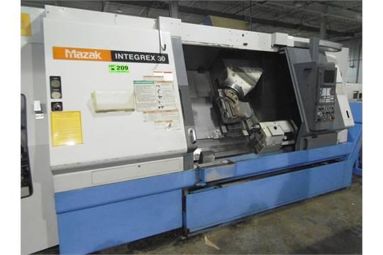 MAZAK INTEGREX-30 CNC LIVE MILLING & TURNING CENTER WITH MAZATROL