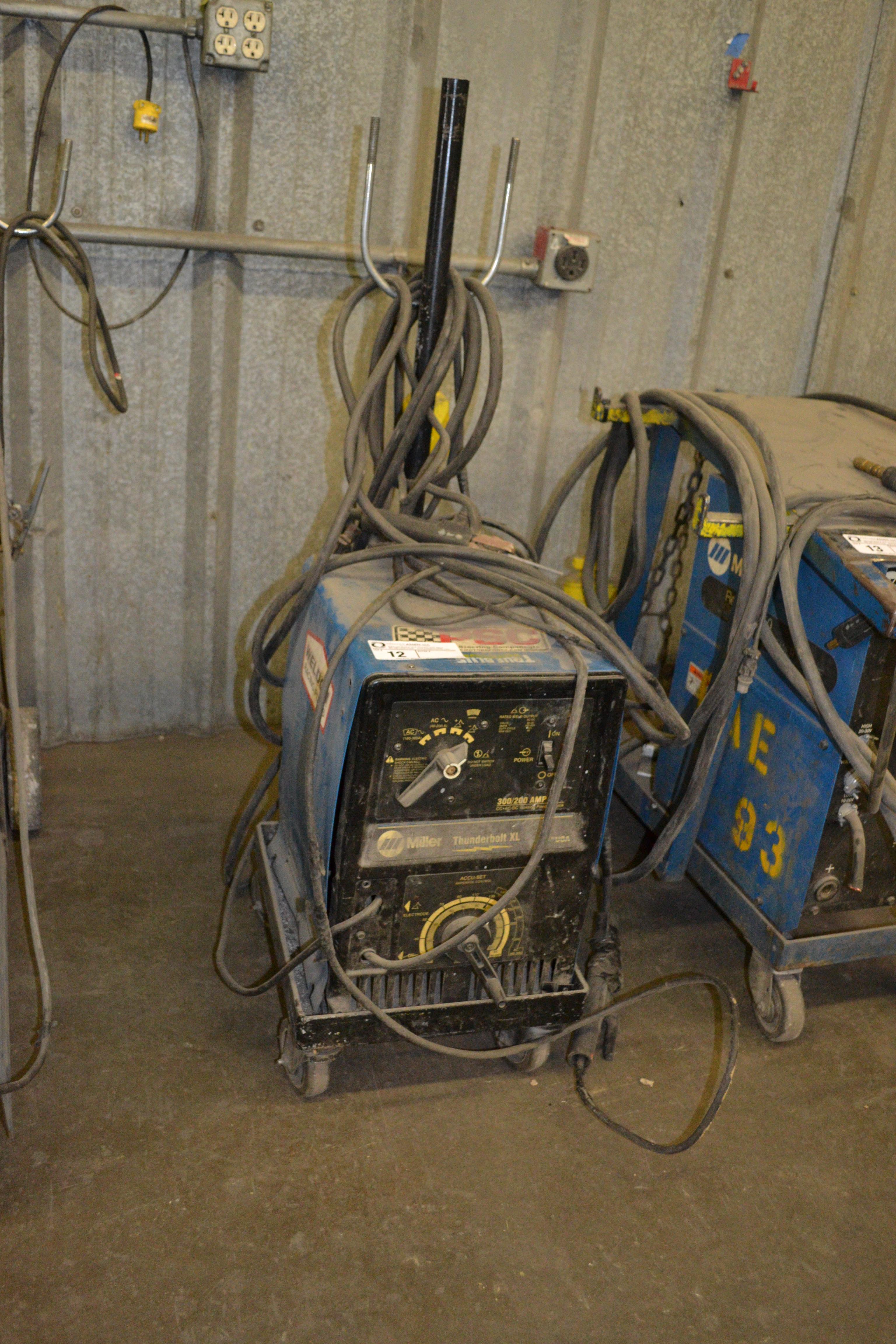 Lot 12 - Miller Thunderbolt XL, 300/200 amp welder, CC-AC/DC  SN: LA245536