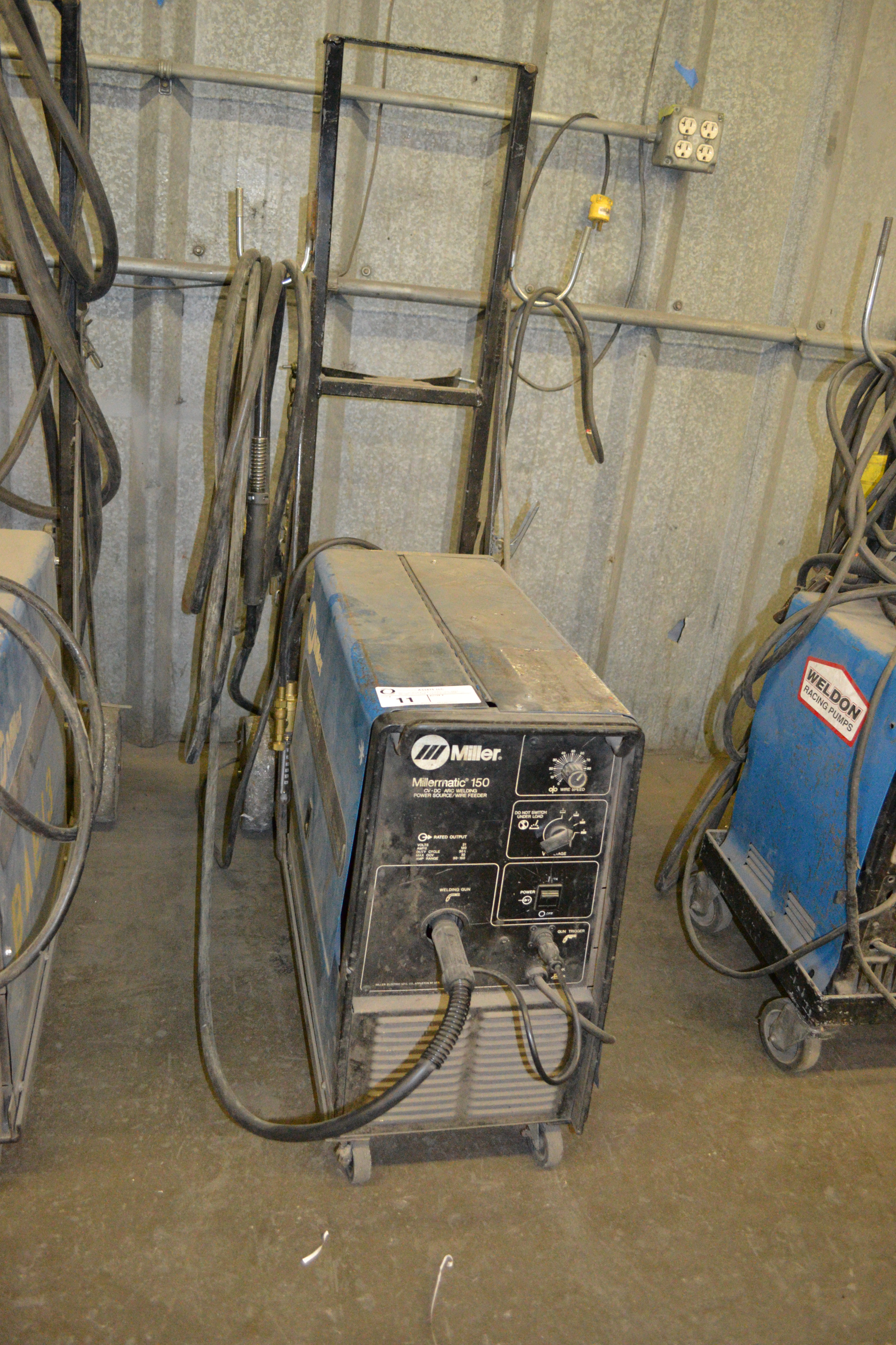Lot 11 - Millermatic 150 CV/DC welder with wire feed  SN: KD5227509