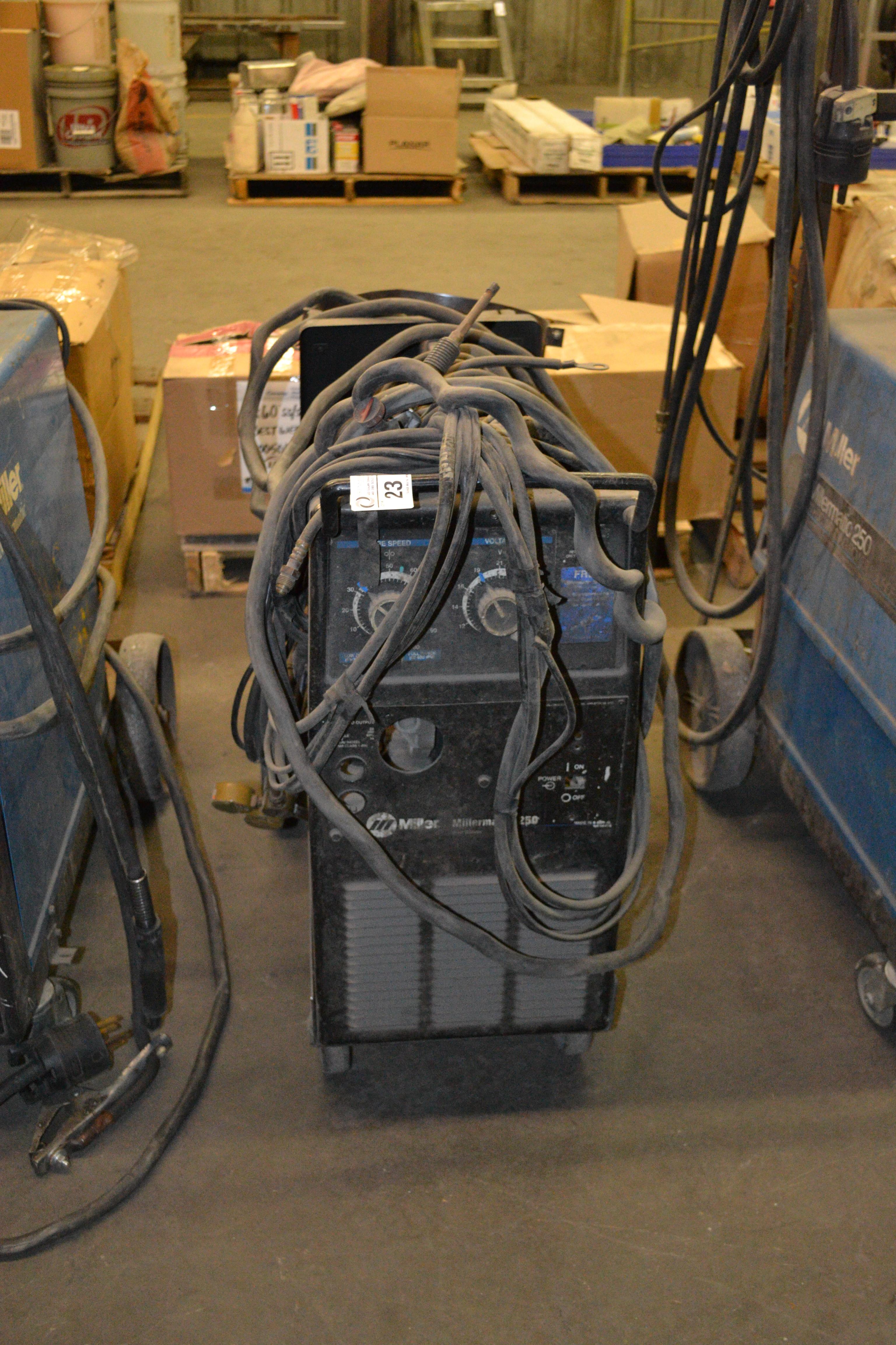 Lot 23 - Millermatic 250 welder (parts)