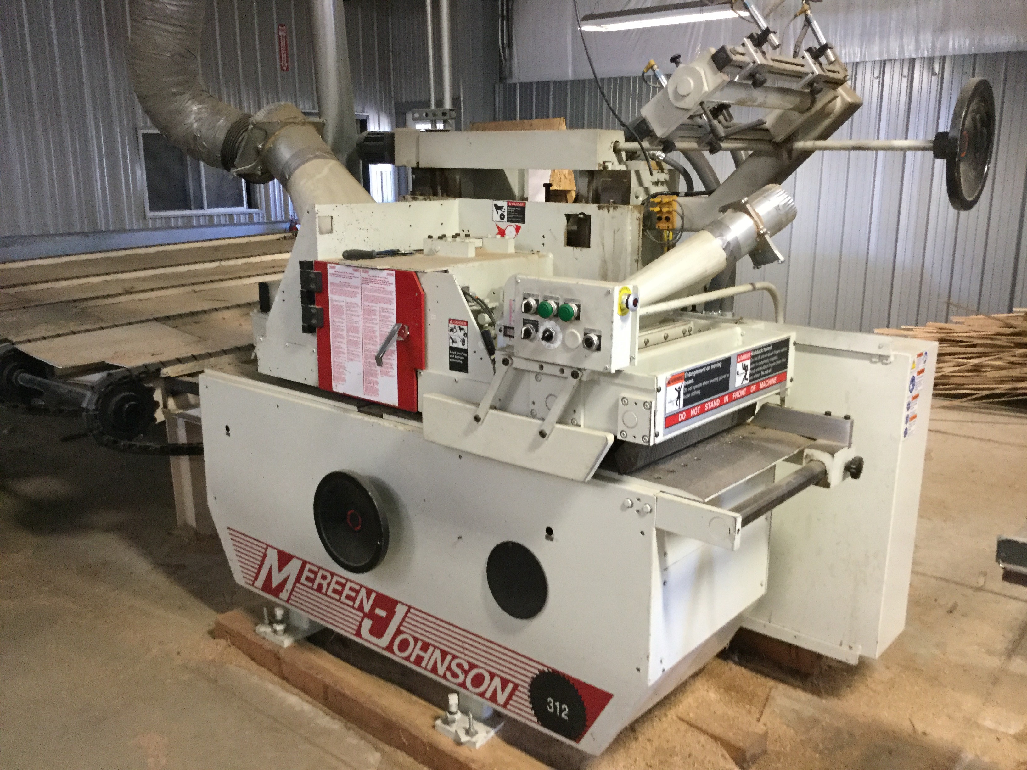 Lot 2 - (938)LIQUIDATION- MEREEN JOHNSON MODEL #312 12'' GANG RIP SAW -MFG 2014