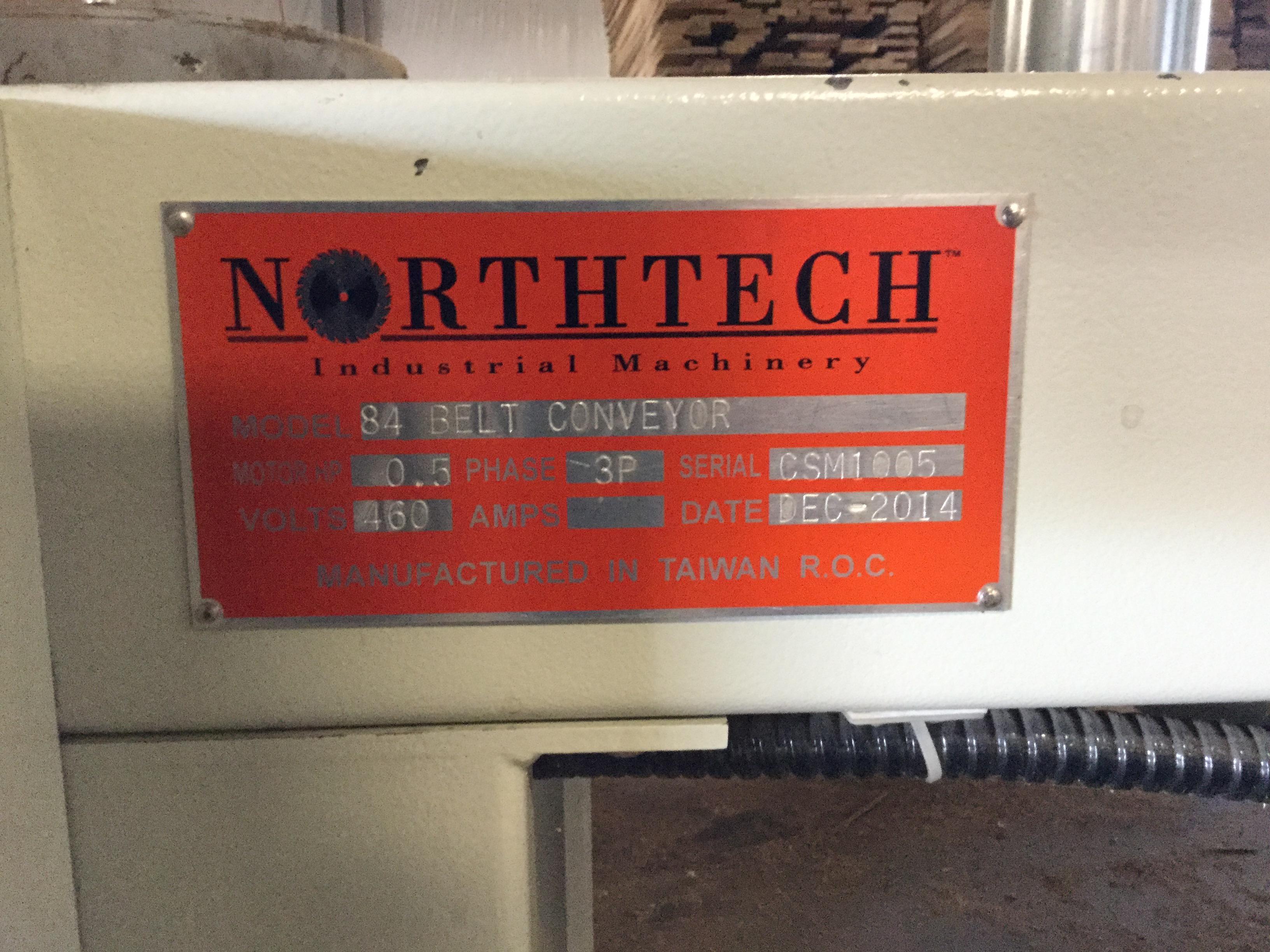 Lot 1 - LIQUIDATION- NORTHTECH 27'' TOP AND BOTTOM PLANER SANDER LINE.(MFG 2014)