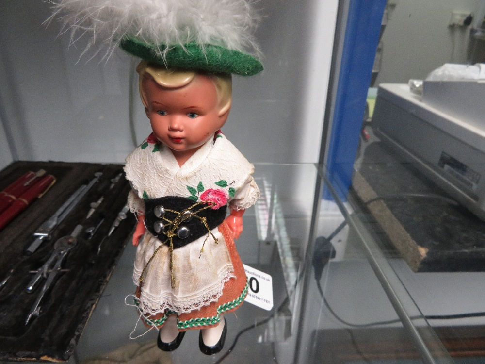 Lot 30 - Clockwork doll - fully working with key