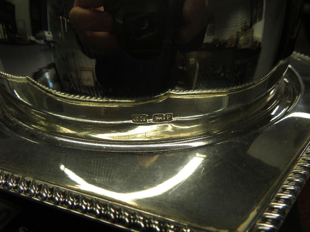 Lot 29 - Silver muffin dish 597g fully hallmarked