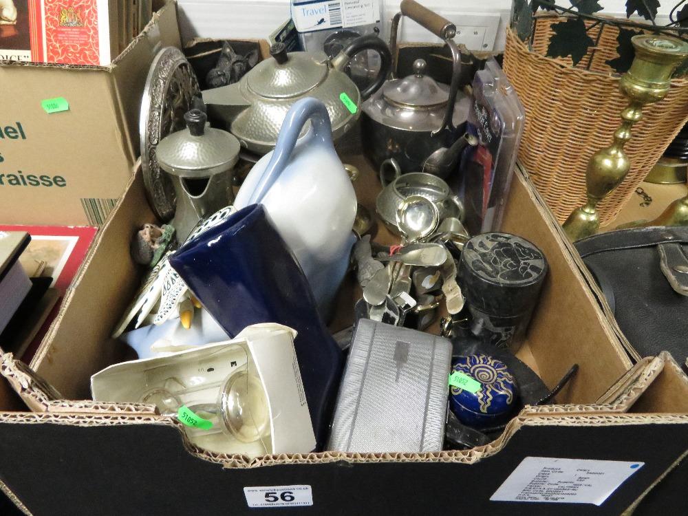 Lot 56 - Box of misc. metal ware