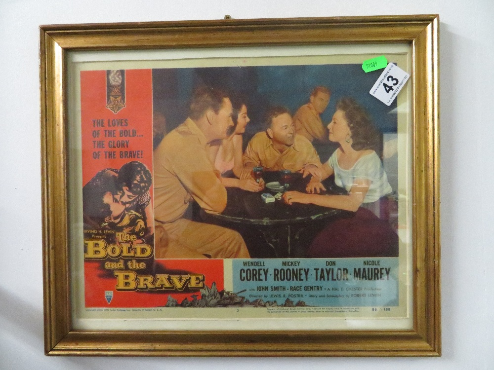 Lot 43 - Original film poster 'the bold and the brave'