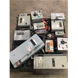 Pallet of assorted electrical boxes, main disconnects, etc.