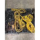 Pallet of assorted cords.