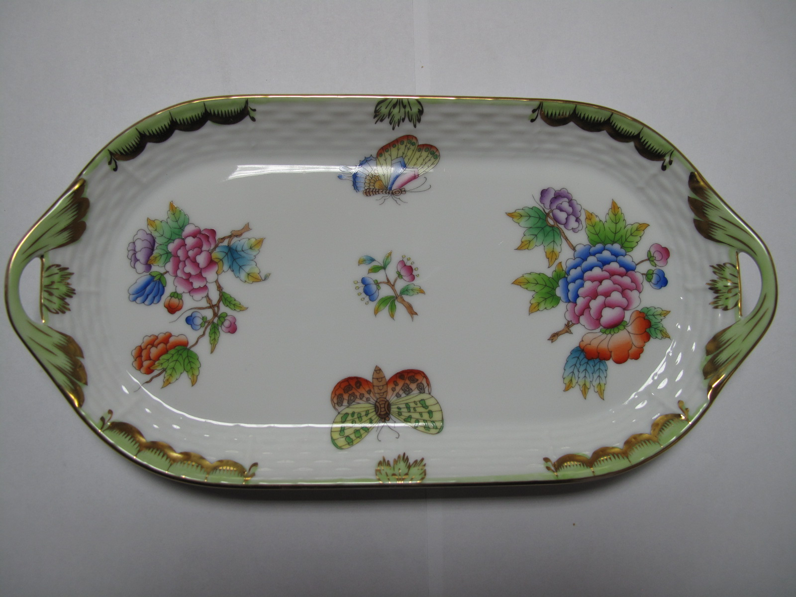 Lot 58 - A Herend Hand Painted Two Handled Tray, tureen on stand, tea and coffee pots all featuring