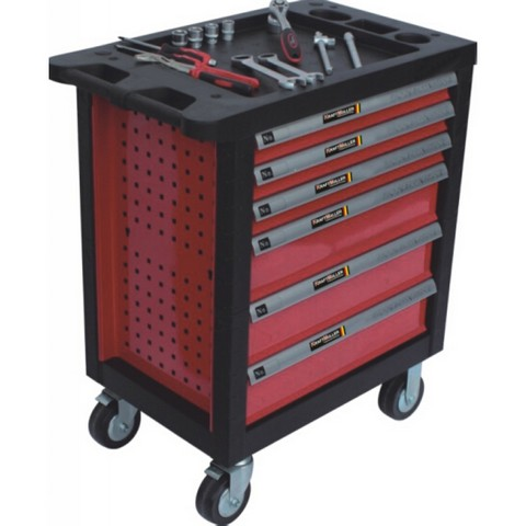 Lot 59053 - V Brand New Locking Professional Tool Cabinet On Castors with Six Drawers RRP 1999 Euros (Includes