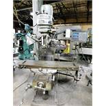 "BRIDGEPORT J HEAD VERTICAL MILLING MACHINE, ACU-RITE MILLMATE 2-AXIS DRO, 9"" X 42"" TABLE, TABLE"