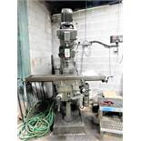 BALDING VERTICAL MILLING MACHINE, MODEL VBRP, S/N 646112, POWER FEED TABLE, RISER, SONY MILLMAN