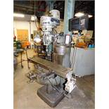 "BRIDGEPORT J HEAD VERTICAL MILLING MACHINE, ANILAM WIZARD 350 PLUS 2-AXIS DRO, 9"" X 42"" TABLE, TABLE"