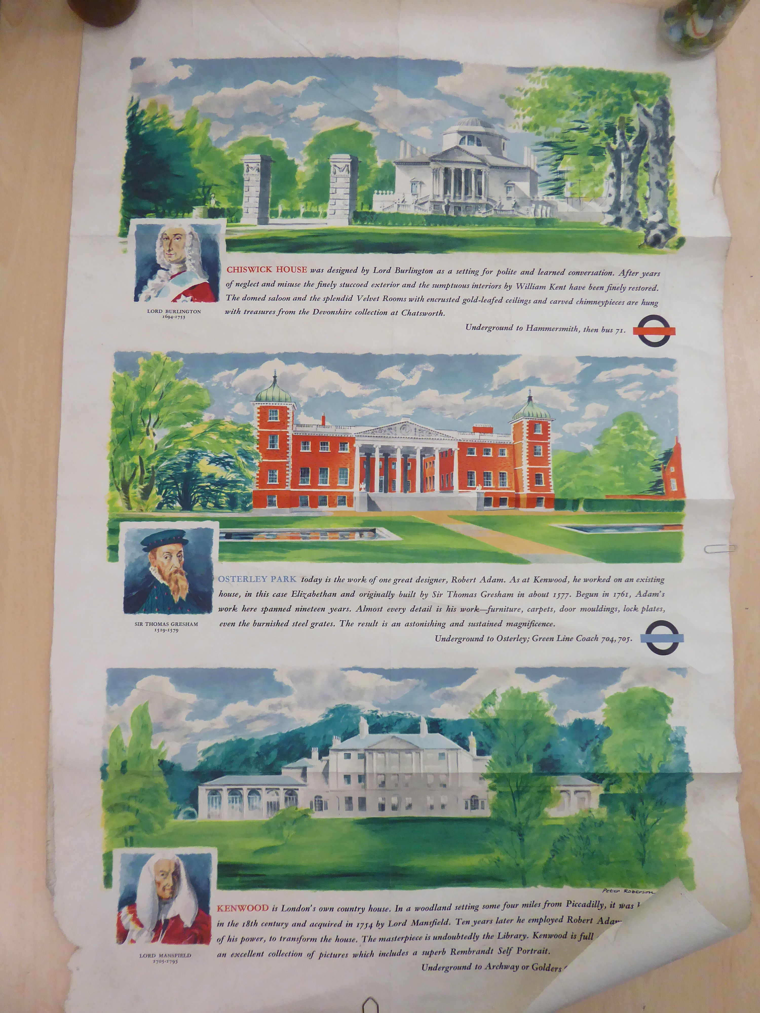 Lot 35 - A printed paper poster, commissioned by London Transport,