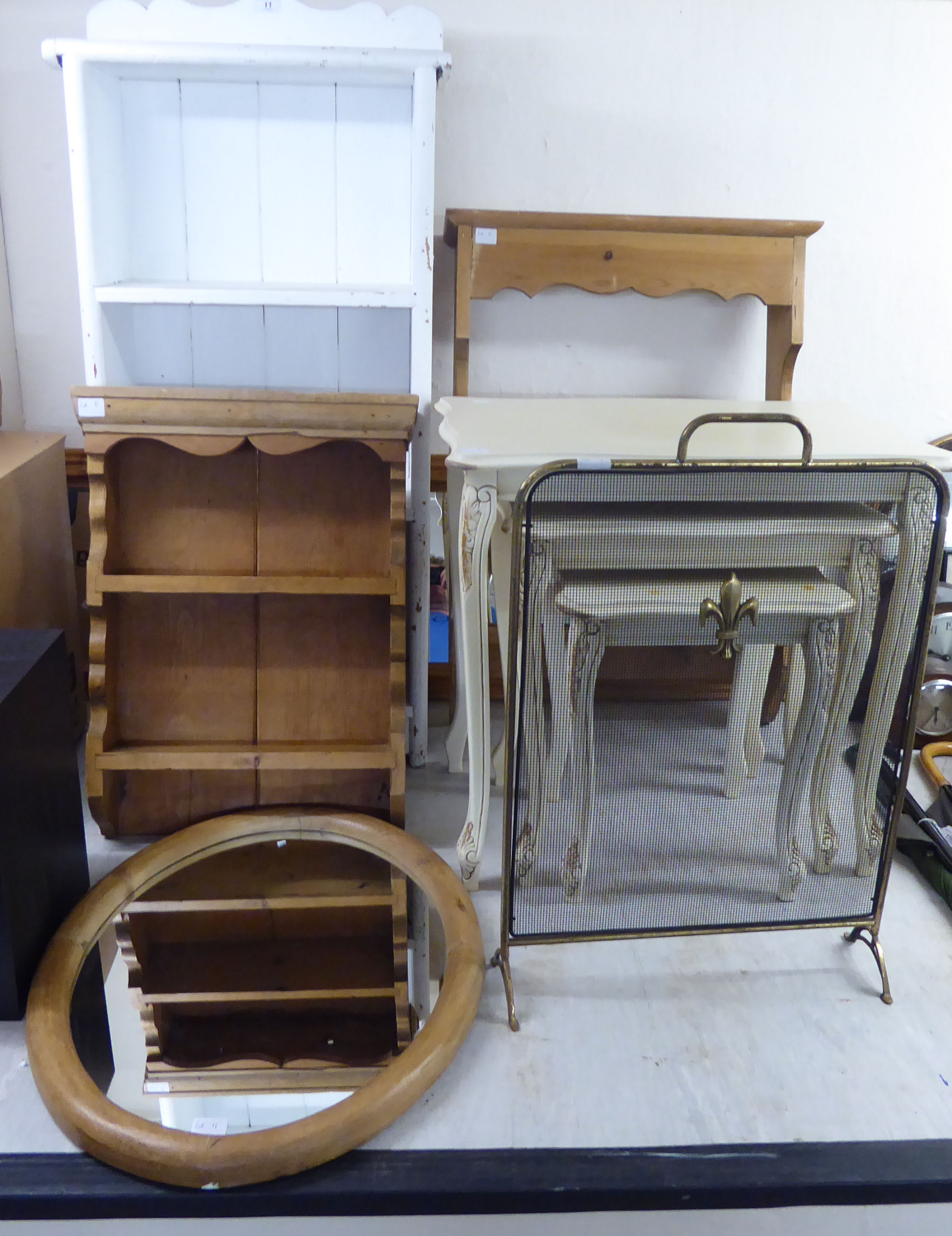 Lot 11 - Small furniture: to include an early/mid 20thC rustically constructed pine,