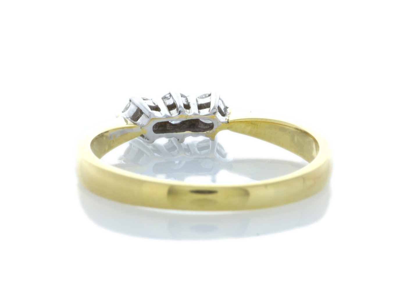 9ct Yellow Gold Three Stone Claw Set Diamond Ring 0.25 Carats - Image 3 of 4
