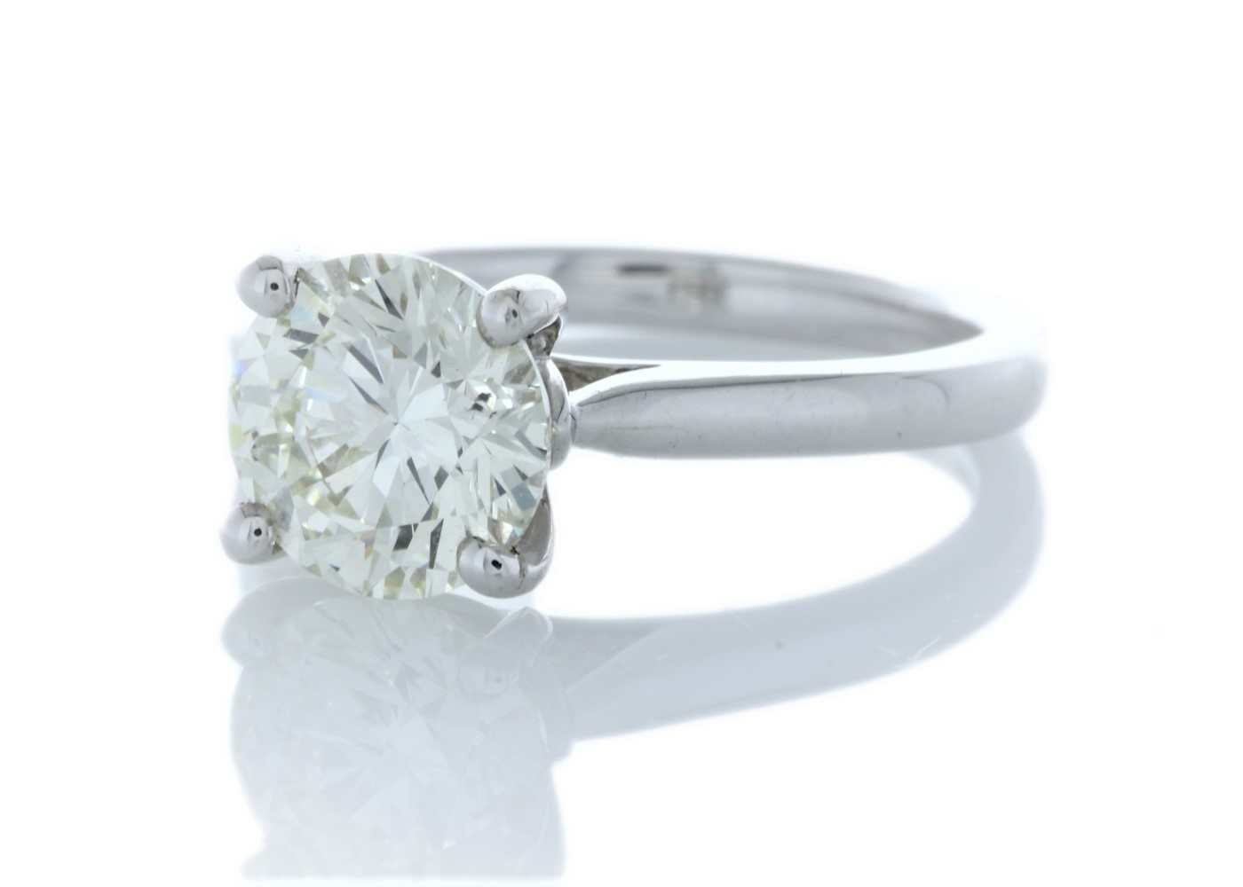 18ct White Gold Single Stone Claw Set Diamond Ring 2.05 Carats - Image 2 of 5
