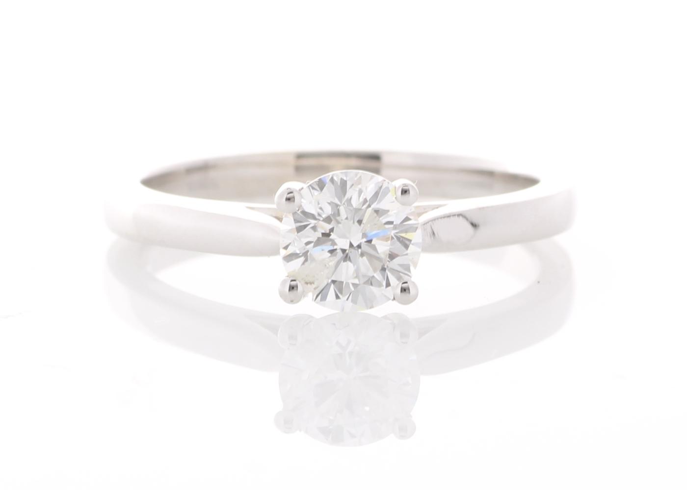 18ct White Gold Single Stone Prong Set Diamond Ring 0.73 Carats
