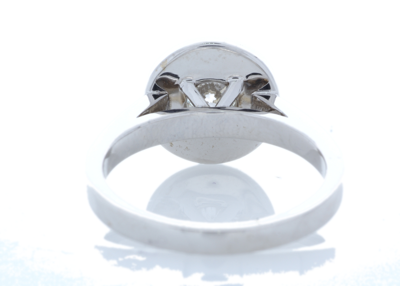 18ct White Gold Single Stone With Halo Setting Ring (0.50) 1.00 Carats - Image 3 of 6