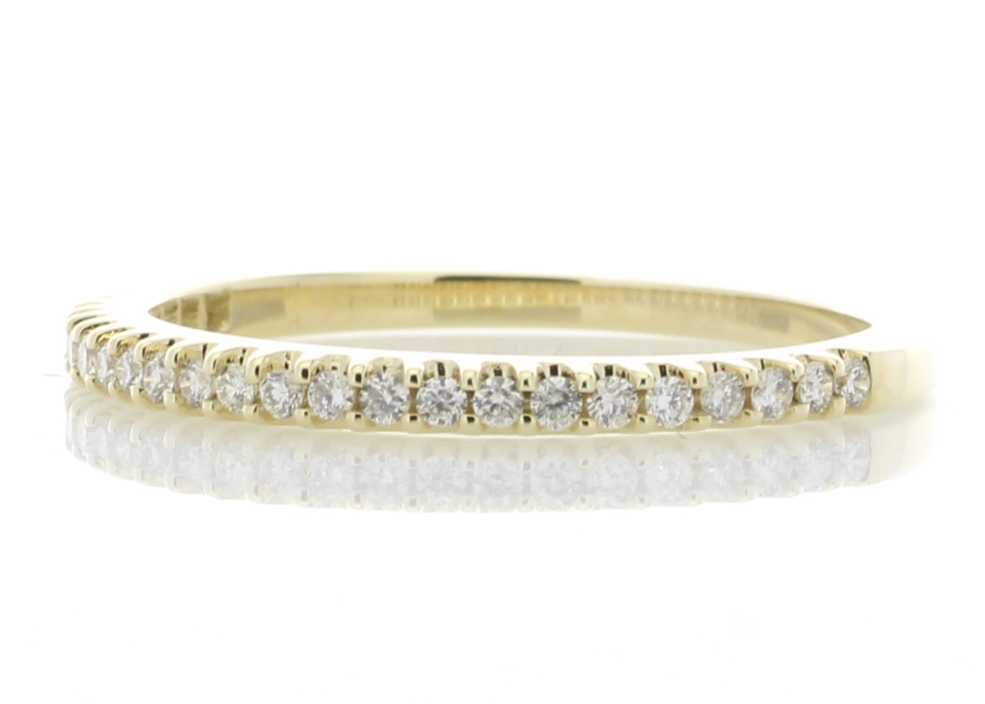 9ct Yellow Gold Diamond Half Eternity Ring 0.25 Carats - Image 2 of 4