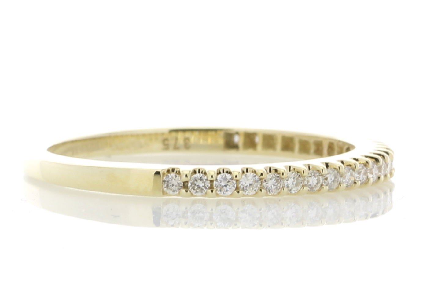 9ct Yellow Gold Diamond Half Eternity Ring 0.25 Carats - Image 4 of 4