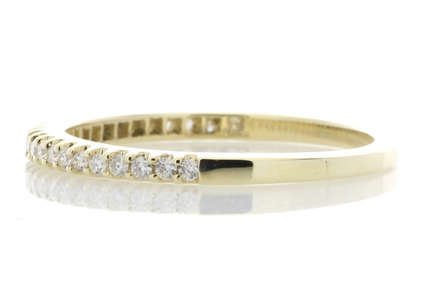 9ct Yellow Gold Diamond Half Eternity Ring 0.25 Carats - Image 3 of 4