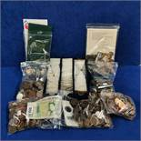 LARGE QUANTITY OF COINS AND CURRENCY