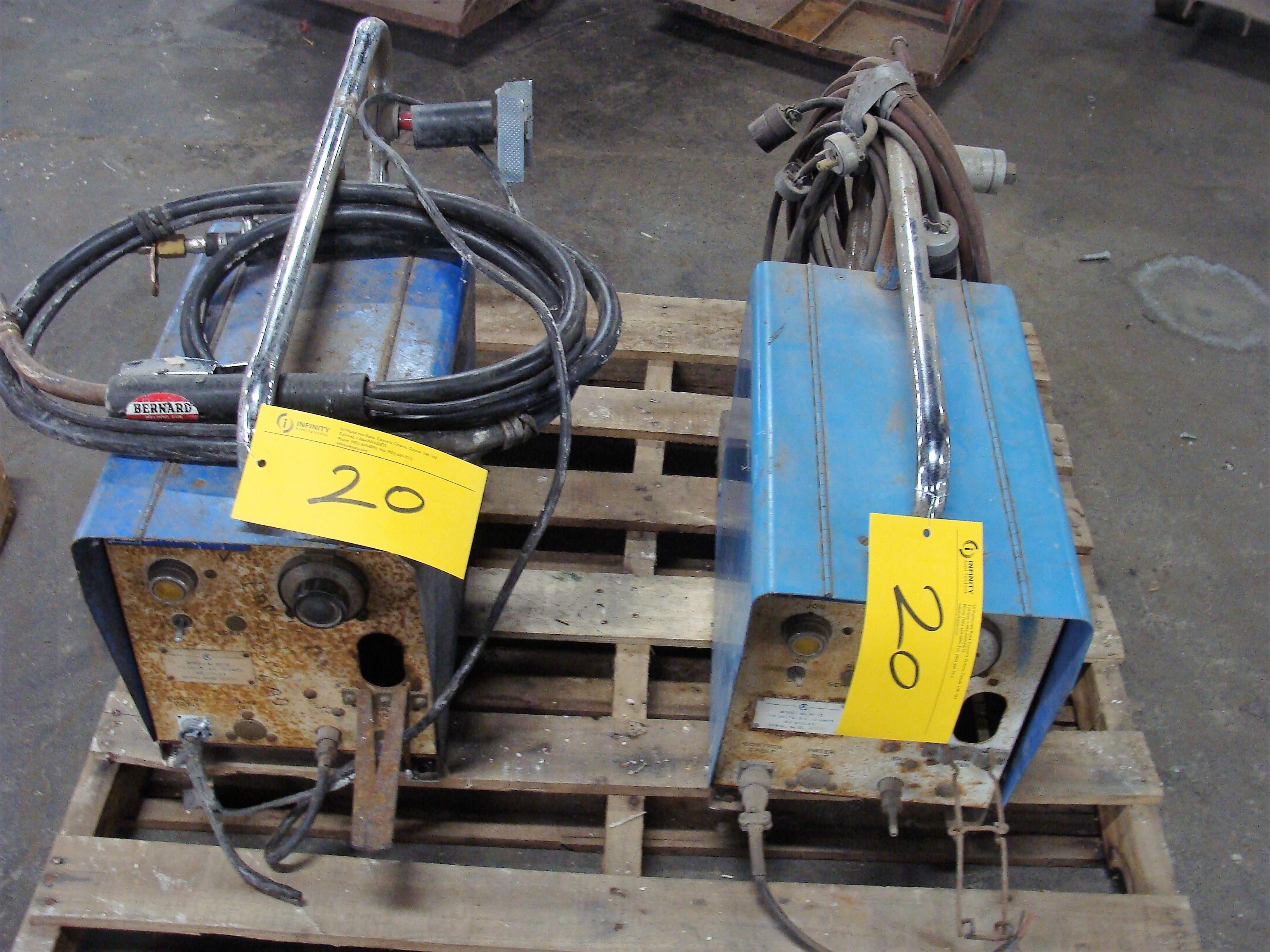 Lot 20 - MILLERMATIC WIRE FEEDER MODEL 30-E, S/N HF-1, CANADIAN LIQUID AIR WIRE FEED MODEL RF-25, (2)
