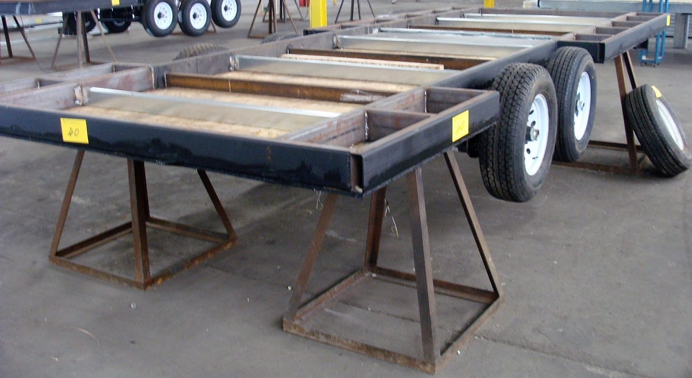 "Lot 40 - UNFINISHED DUAL AXLE TRAILER, APPROX. 93"" X 237"""