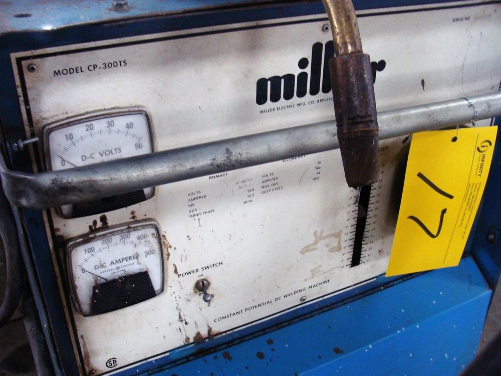 Lot 17 - MILLER CP-300TS WELDER, S/N HD687355 W/ PRO-LINE WF-54E WIRE FEED, S/N L046522