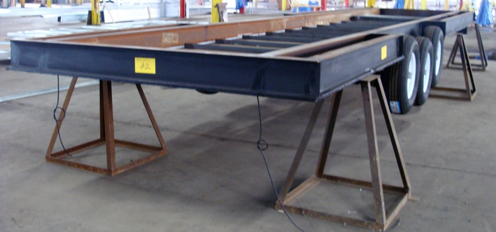"Lot 42 - UNFINISHED TRI AXLE TRAILER, APPROX. 93"" X 380"""
