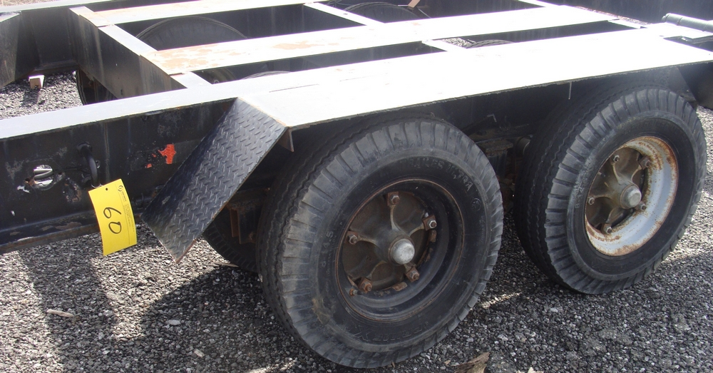 "Lot 60 - 50"" GOOSE NECK DUAL AXLE TRAILER, DUAL TIRE"