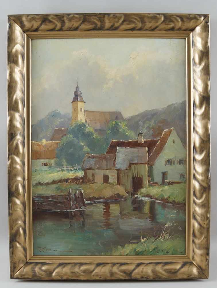 Lot 220 - Am Ammersee, Öl auf Leinwand, gerahmt, signiert, 58x44cm- - -24.00 % buyer's premium on the hammer