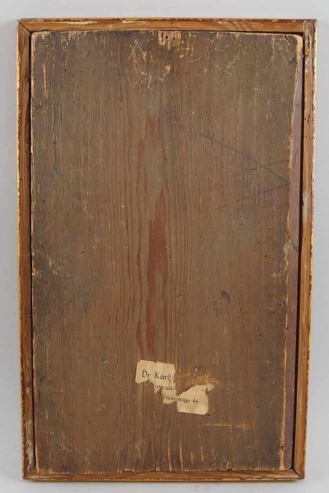 Lot 197 - Heiliger Andreas, Öl auf Holz, 18. JH, gerahmt, 50x31cm- - -24.00 % buyer's premium on the hammer