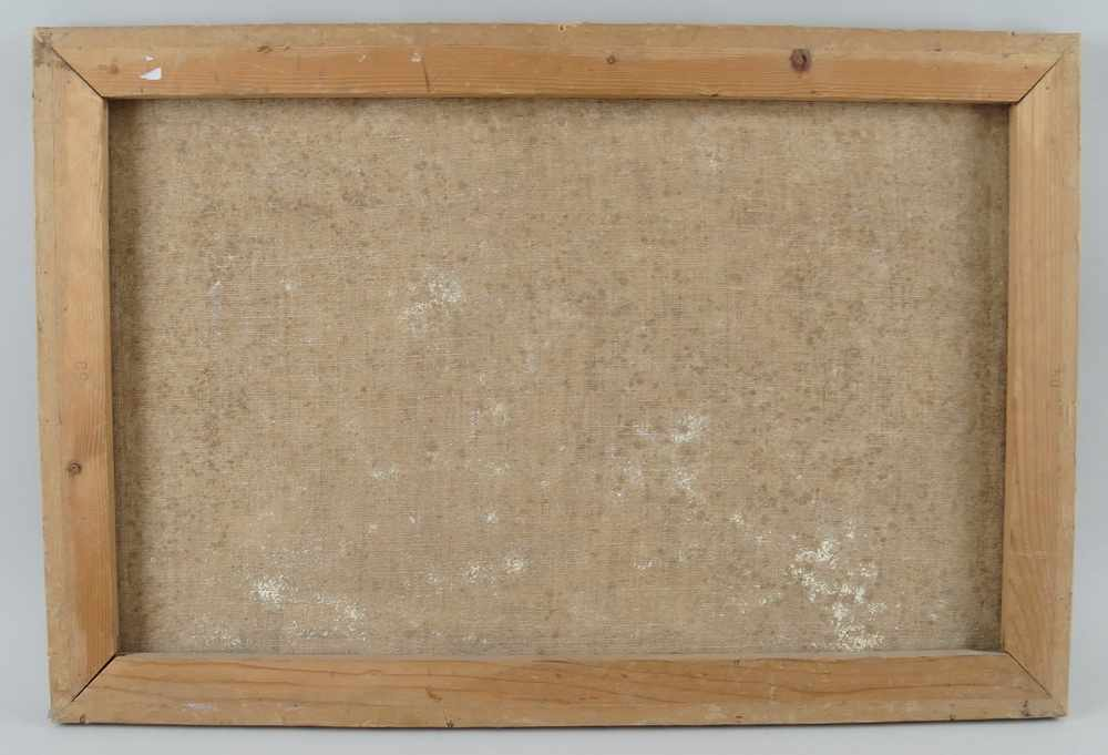 Lot 230 - Sakrale Darstellung, Öl auf Leinwand, Altersspuren, 49x73cm- - -24.00 % buyer's premium on the