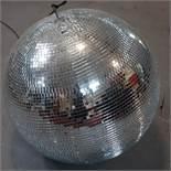 A mirrored glass disco ball, H.38cm