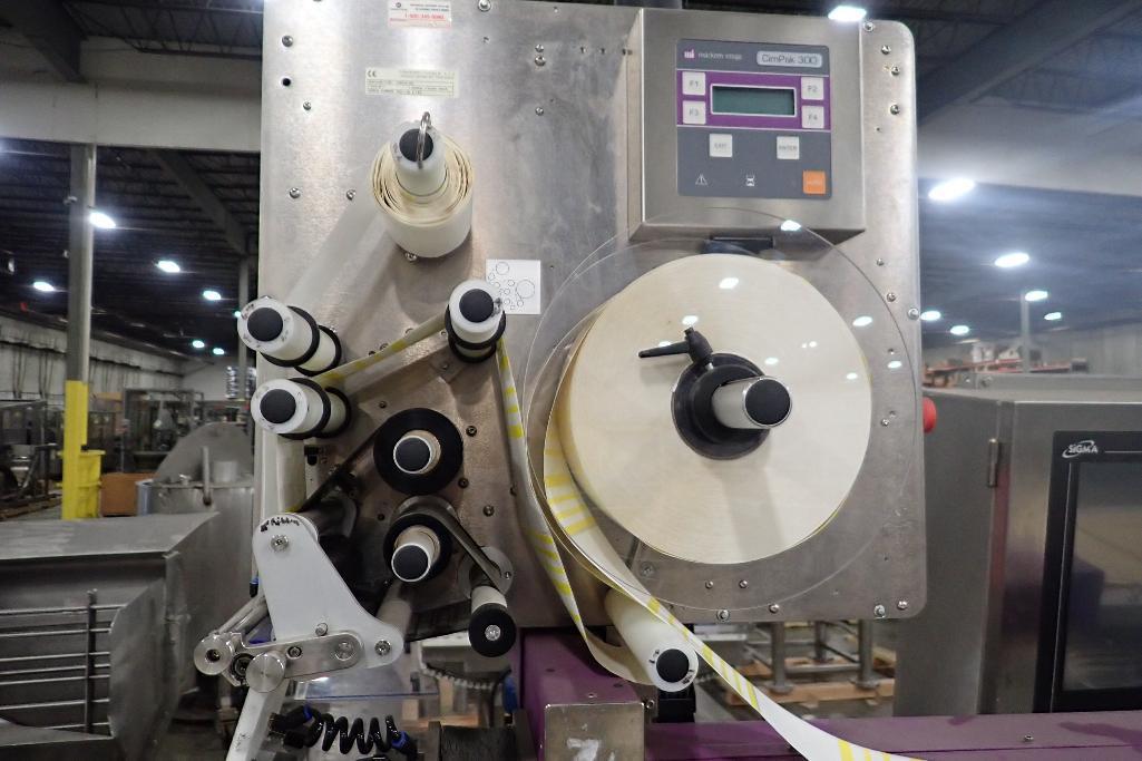 Lot 1046 - 2011 Markem Imaje CIMPAK 300 labeler, Type 3540, SN GD11-16-8-162, Sigma hmi and SS stand (LOT). **R